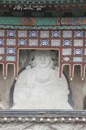 서울 옥천암 마애보살좌상