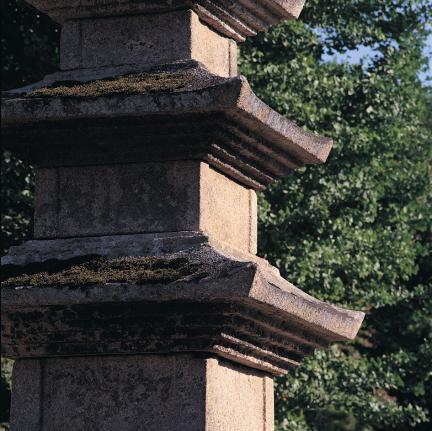 옥개석 층급받침과 낙수면