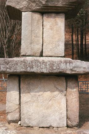 강화 장정리 오층석탑(기단과 일층탑신)