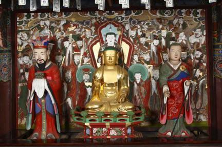 강화 전등사 목조지장보살삼존상 및 시왕상 일괄