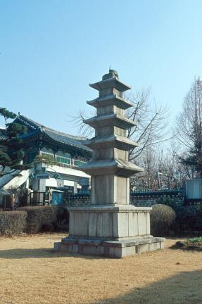 광주 지산동 오층석탑