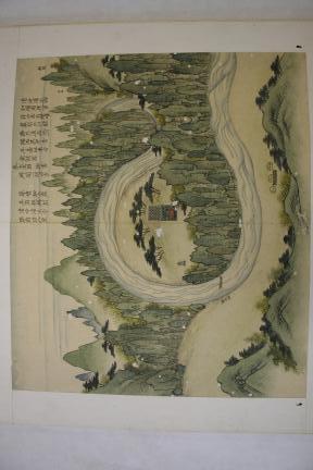 보물 제1536호 월중도(제2면 청룡포)