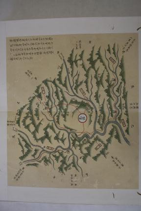 보물 제1536호 월중도(제8면 영월지도)