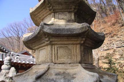 남양주 수종사 팔각오층석탑 (탑신부)