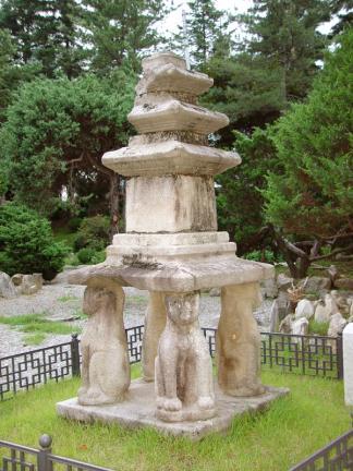 홍천 괘석리 사사자 삼층석탑
