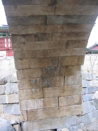 능파교 홍예천장 내부 (북측)