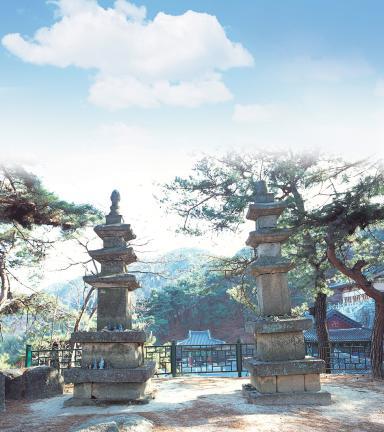 옥천 용암사 동ㆍ서 삼층석탑