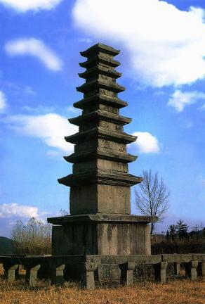 정산서정리구층석탑