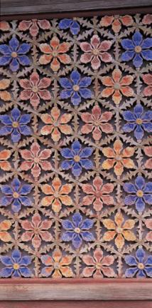 쌍계사 대웅전 꽃무늬 문살(중앙)