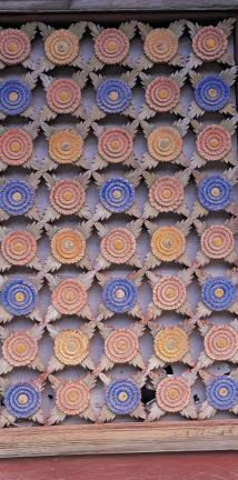 쌍계사 대웅전 꽃무늬 문살(오른쪽)1