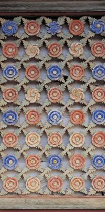 쌍계사 대웅전 꽃무늬 문살(오른쪽)2