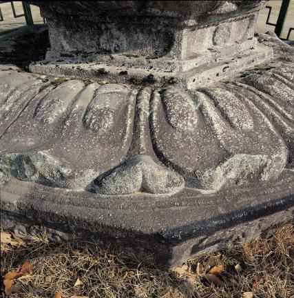 하대석 윗면의 연꽃(복련) 무늬