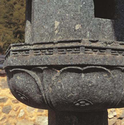 석등 상대석 앙련과 난간