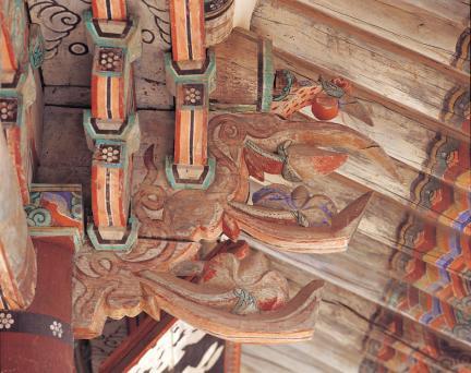 장수향교 대성전 기둥 상부 공포