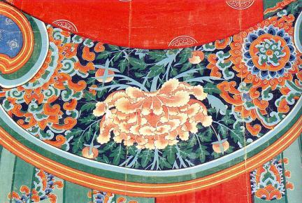 본존불대의끝단의꽃무늬