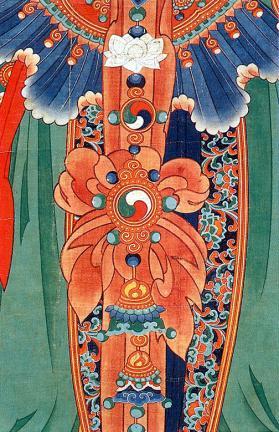 보현보살의태극무늬장식