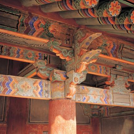 나주향교 대성전 기둥 상부 공포
