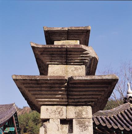 탑신부의 옥개석 및 옥신