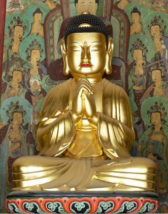 보물 제1548호  구례 화엄사 목조비로자나삼신불좌상(비로자나)
