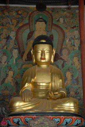 보물 제1548호 구례 화엄사 목조비로자나삼신불좌상(석가여래)
