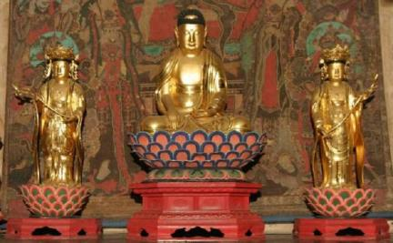 보물 제1550호 여수 흥국사 목조석가여래삼존상