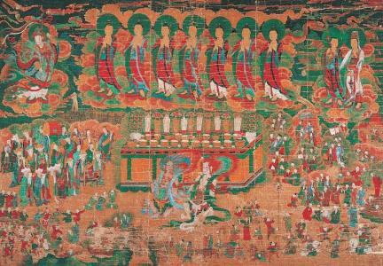 보물 제1553호 순천 선암사 서부도암감로왕도