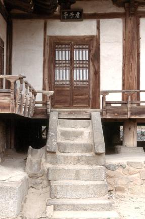 군자정 계단
