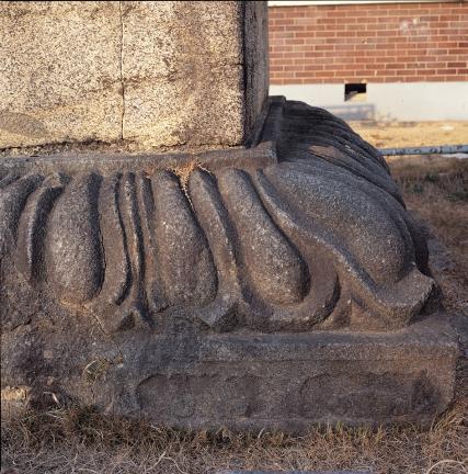 여래좌상 대좌 하대의 복련문