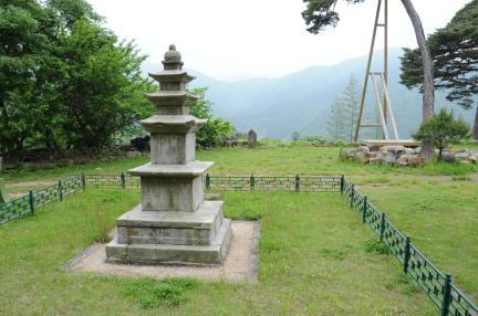 함양 벽송사 삼층석탑 (촬영:문화재청)