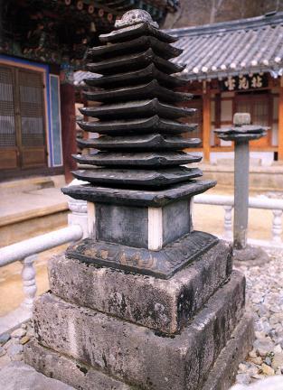 합천 해인사 원당암 다층석탑 및 석등