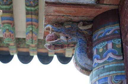 기둥 용머리 장식