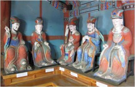 보물 제1920호 고창 문수사 목조지장보살좌상 및 시왕상 일괄