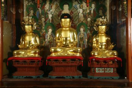 보물 제1635호 상주 남장사 목조아미타여래삼존좌상(2010년 국보,보물 지정보고서)